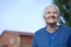 gammalare lycklig kvinna Royaltyfri Fotografi