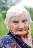 gammalare lycklig kvinna Royaltyfria Foton