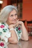 gammalare trevlig kvinna royaltyfri fotografi