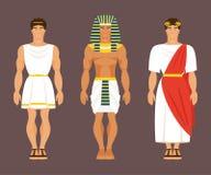 Gammalgrekiska, egyptier och romare också vektor för coreldrawillustration stock illustrationer