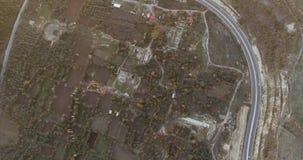 Gammalgrekiska och Roman Ruins Aerial Footage, Stratonikeia stock video