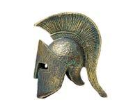 Gammalgrekiska Spartan Helmet Arkivbilder