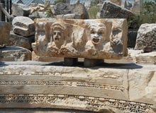 Gammalgrekiskaskulptur i Turkiet Royaltyfri Fotografi