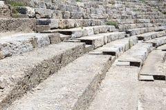 Gammalgrekiskateater på Ephesus Royaltyfri Fotografi