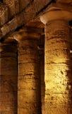 Gammalgrekiskatempel av segestaen, nattsikt Arkivbild
