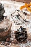 Gammalmodig julkort för tappning Fotografering för Bildbyråer