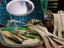 Gammalmodig manikyr och pedikyruppsättning Royaltyfri Bild