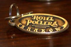 Gammalmodig tangent från det historiska hotellet Pollera i Krakow, Polen Royaltyfri Foto