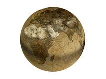 Gammalmodig tolkning för jordklot 3d royaltyfri fotografi