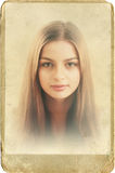 Gammalmodiga Portraite Royaltyfri Fotografi