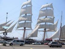 Gammalmodigt seglingskepp från Kalifornien Arkivfoton