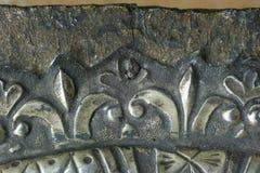 gammalmodigt spika på symbolen återställande av metall royaltyfri fotografi