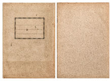 Gammalt återanvänt pappers- bokomslag som isoleras på vit bakgrund Royaltyfria Foton