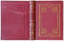 Gammalt öppna boken 1885 - circa 1885 Royaltyfri Bild