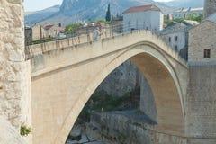 Gammalt överbrygga, Mostar Arkivbild