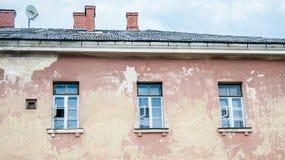 gammalt övergivet byggande Daugavpils Lettland Fotografering för Bildbyråer
