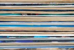 gammalt övre för täta tidskrifter Arkivfoto