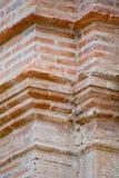 gammalt övre för tegelstenbyggnadsclose Royaltyfri Fotografi