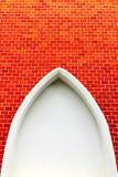 Gammalt abstrakt begrepp för tappning för bakgrund för väggen för textur för tegelstenväggen red ut textur befläckt gammalt stuck Royaltyfri Bild