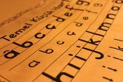 gammalt alfabet Royaltyfri Fotografi