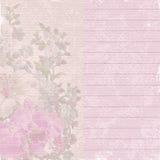 Gammalt anmärkningspapper med blommor Royaltyfri Bild