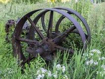 Gammalt antikt hjul arkivbilder