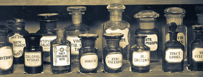 Gammalt apotekmuseum Royaltyfria Bilder