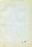 Gammalt ark av anteckningsboken i bur med fläckar Royaltyfria Bilder