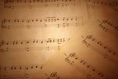 gammalt ark för musik Fotografering för Bildbyråer