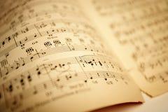 gammalt ark för musik Arkivbilder
