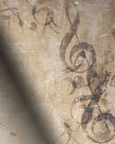 gammalt ark för musik Royaltyfri Fotografi