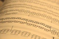 gammalt ark för musik Arkivfoto