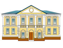 gammalt arkitekturhus Royaltyfri Foto