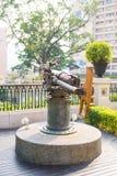 Gammalt artilleri på arvgränsmärket 1881 av Hong Kong Royaltyfri Fotografi