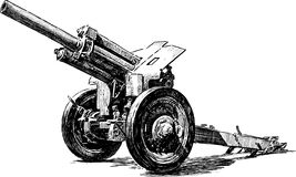 Gammalt artillerivapen Arkivbild