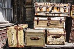 gammalt bagage Arkivfoton