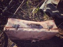 gammalt bagage Arkivbilder