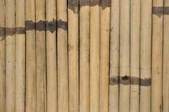 Gammalt bambustaket royaltyfri fotografi