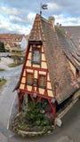 Gammalt bayerskt hus i Rothenburg obder Tauber, Tyskland Royaltyfri Fotografi
