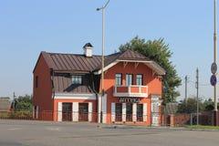 gammalt belarus för 2007 höst hus arkivfoton