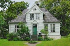 gammalt bergen husmuseum Fotografering för Bildbyråer