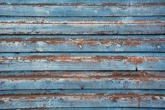 Gammalt blått trä Arkivfoton
