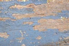 Gammalt blått träbräde med abstrakt texturbakgrund Fotografering för Bildbyråer