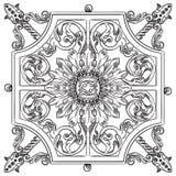 Gammalt botaniskt galler för vektor Royaltyfria Foton