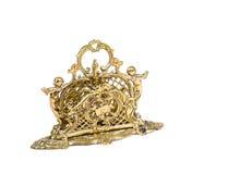 gammalt brassy objekt royaltyfria bilder