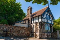 Gammalt brittiskt viktorianskt hus royaltyfri foto