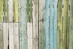 Gammalt brunt staket Arkivfoton