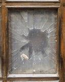 Gammalt brutet fönster royaltyfri foto