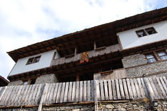 Gammalt bulgarian hus Arkivbilder