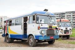 Gammalt bussa centralen yangon myanmar Arkivfoto